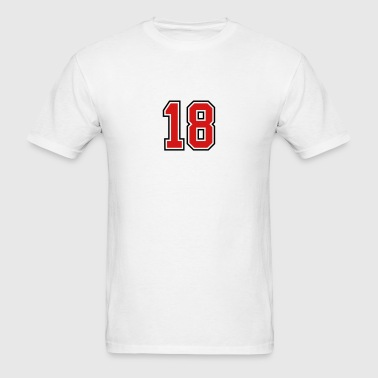 18 sports jersey football number - Men's T-Shirt