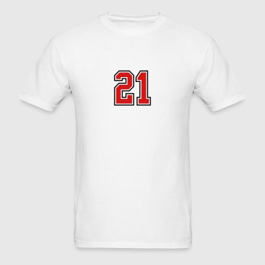 21 sports jersey football number - Men's T-Shirt