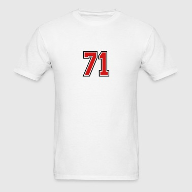 71 sports jersey football number - Men's T-Shirt