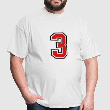 3955797 15268502 sports jersey number 3  - Men's T-Shirt