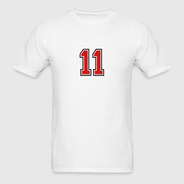 11 sports jersey football number - Men's T-Shirt