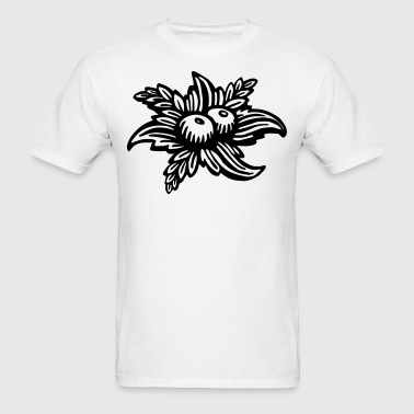 Black & White Fruit Illustration - Men's T-Shirt