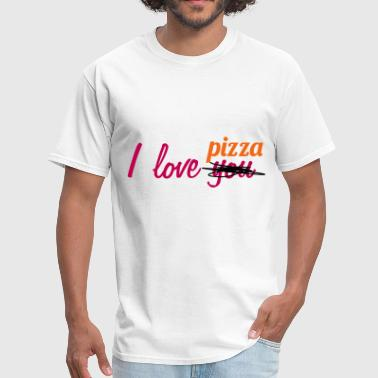 I love you pizza - Men's T-Shirt