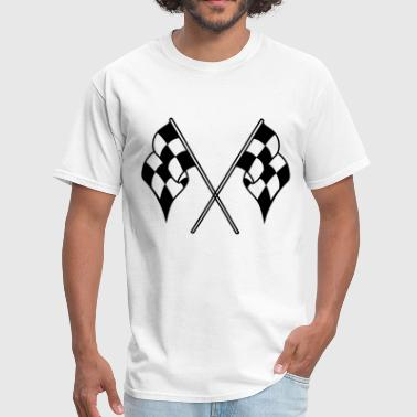checkered flag - Men's T-Shirt