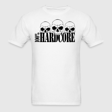 100% Hardcore - Men's T-Shirt