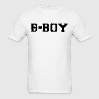bboy varsity college style text logo - Men's T-Shirt