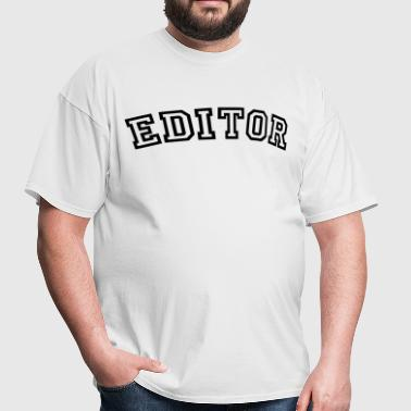 editor curved college style logo - Men's T-Shirt