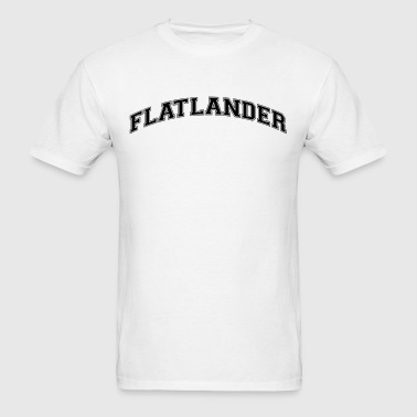 flatlander college style curved logo - Men's T-Shirt