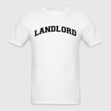 landlord college style curved logo - Men's T-Shirt