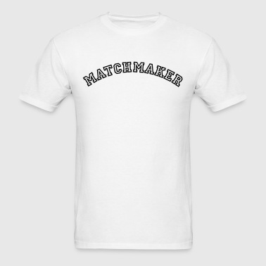 matchmaker curved college style logo - Men's T-Shirt