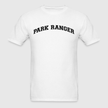 park ranger college style curved logo - Men's T-Shirt