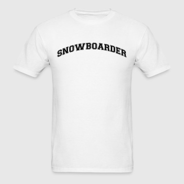 snowboarder college style curved logo - Men's T-Shirt