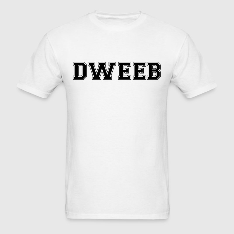 dweeb varsity college style text logo - Men's T-Shirt