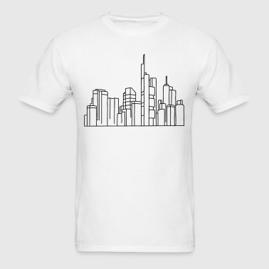 Skyline of Frankfurt - Men's T-Shirt