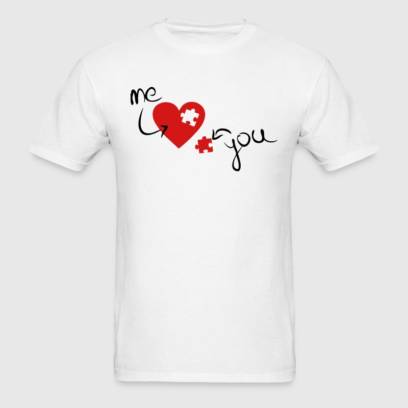 Missing Piece To My Heart - Men's T-Shirt