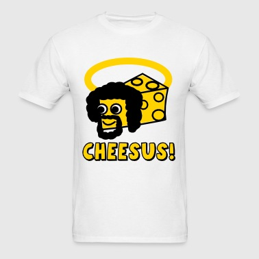 Cheesus / Jesus Parody - Men's T-Shirt