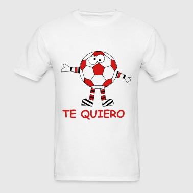 Ball Soccer Football Sports Te quiero love couple - Men's T-Shirt