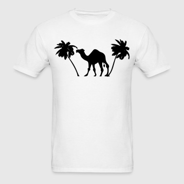 Camel Palm Trees Silhouette - Men's T-Shirt