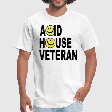 Acid House Veteran Smiley Logo - Men's T-Shirt