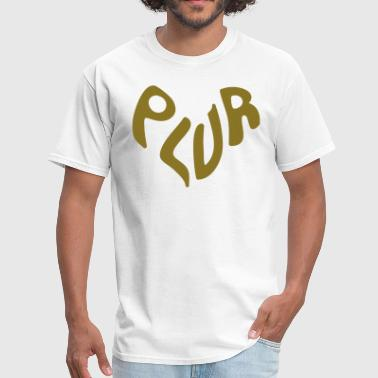 PLUR - Peace love unity and respect - Men's T-Shirt
