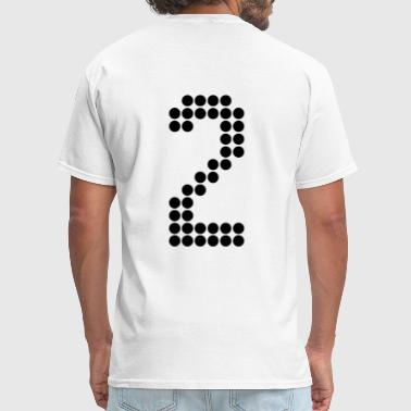2, Numbers, Football Numbers, Jersey Numbers - Men's T-Shirt