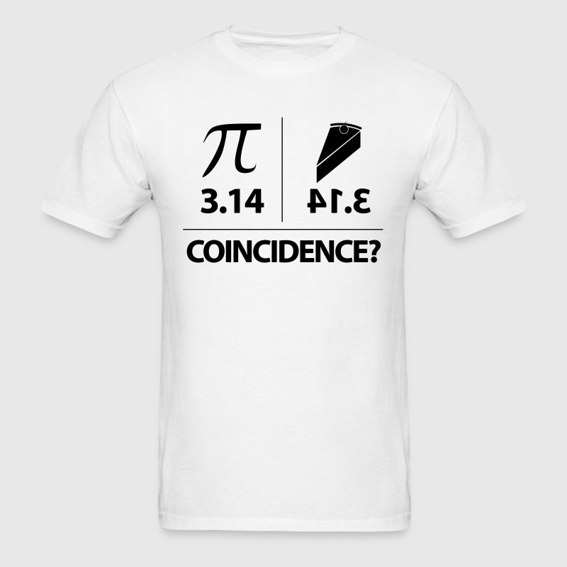 Pie Coincidence? - 3.14 Backwards - Men's T-Shirt