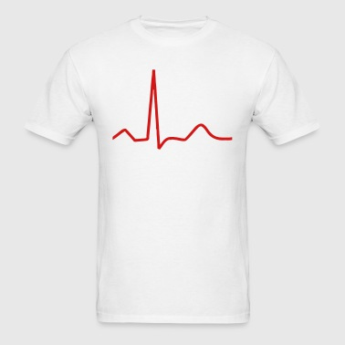 Heart beat pulse beating - Men's T-Shirt