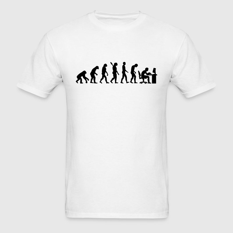 Evolution computer - Men's T-Shirt