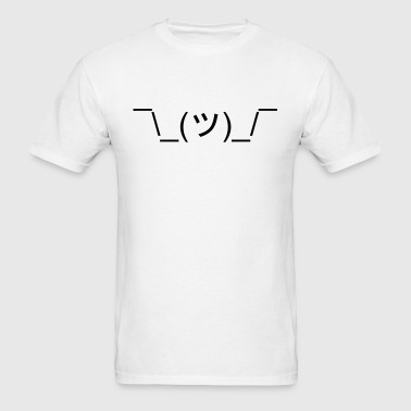 *Shrugs* (Shrug Emoticon Meme Face) - Men's T-Shirt