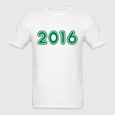 2016, Numbers, Year, Year Of Birth - Men's T-Shirt