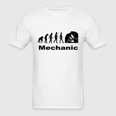 Human Evolution - Mechanic - Men's T-Shirt