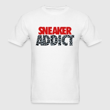 sneaker addict text cement - Men's T-Shirt