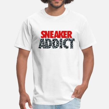 Sneaker sneaker addict text cement - Men's T-Shirt