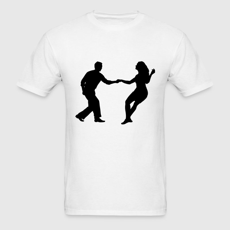 swing dancers - Men's T-Shirt