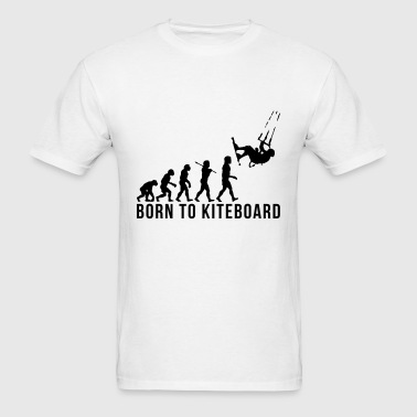 kiteboarding evolution born to kiteboard - Men's T-Shirt