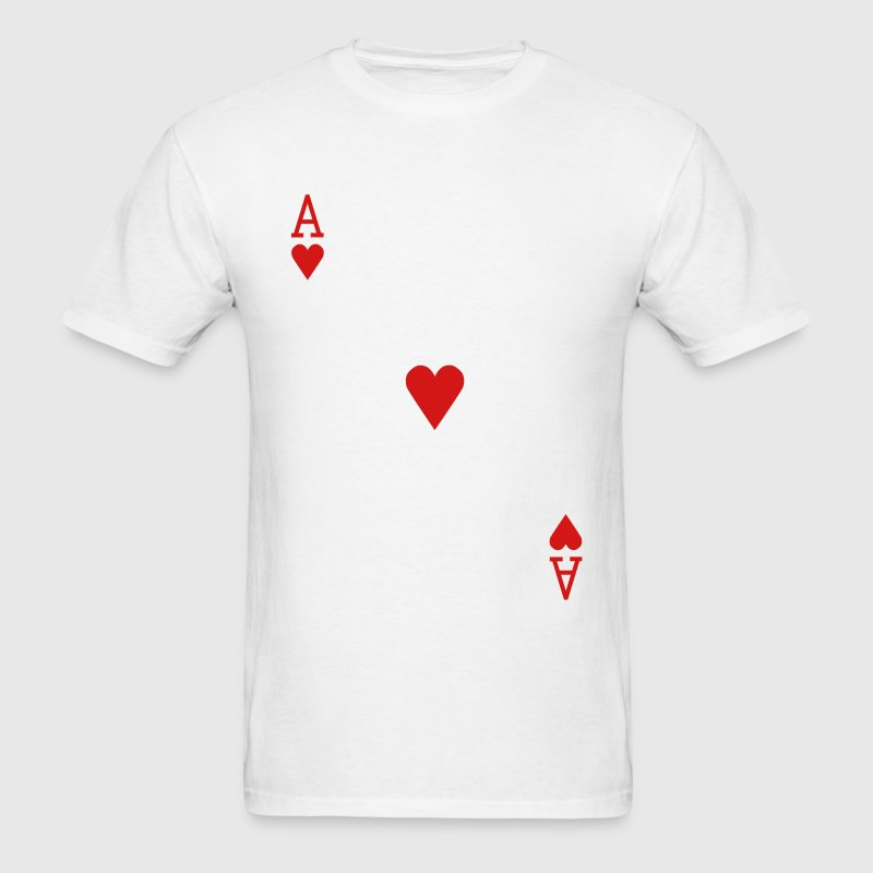 Ace of Hearts - Men's T-Shirt