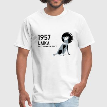 Laika, 1957: first animal in space - Men's T-Shirt