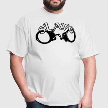 slave and handcuffs - Men's T-Shirt