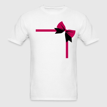 bow package on a rectangle birthday gift - Men's T-Shirt