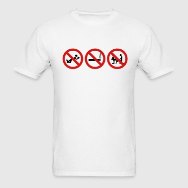 Staight Edge - No drinking, no drugs no fucking ar - Men's T-Shirt