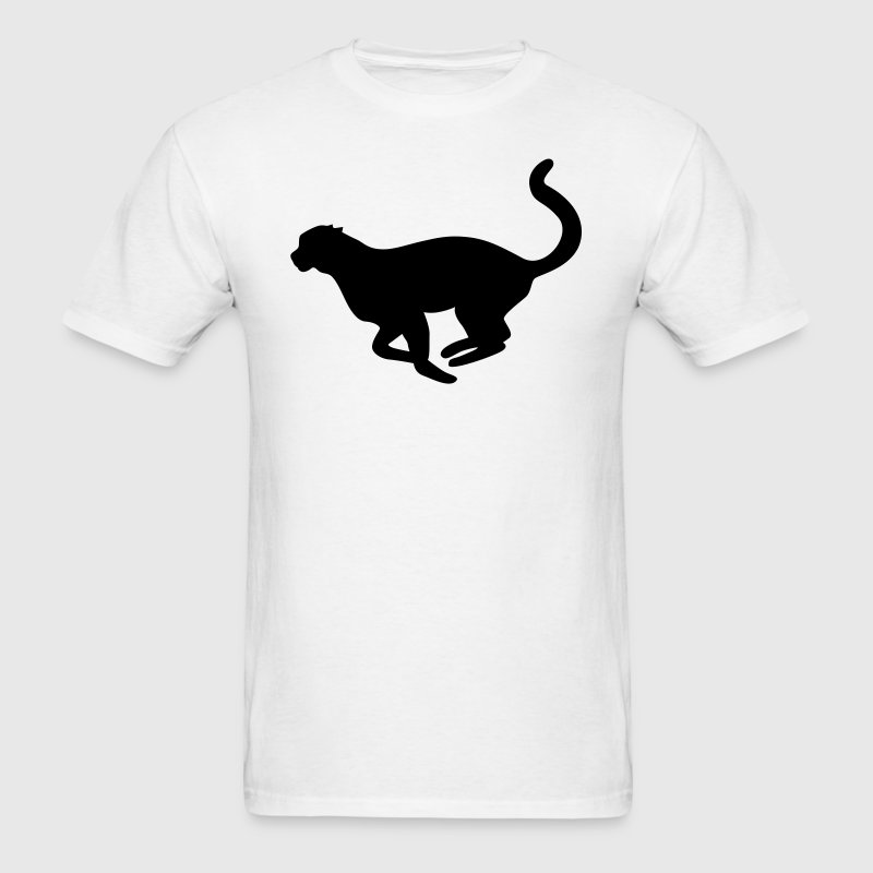 Running Cheetah Silhouette - Men's T-Shirt