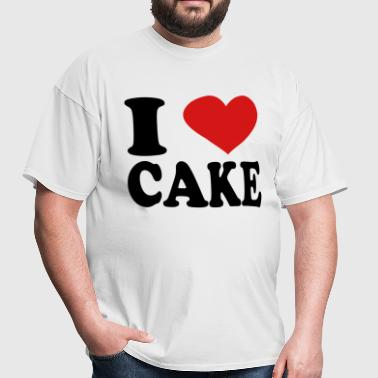 I Love Cake - Men's T-Shirt