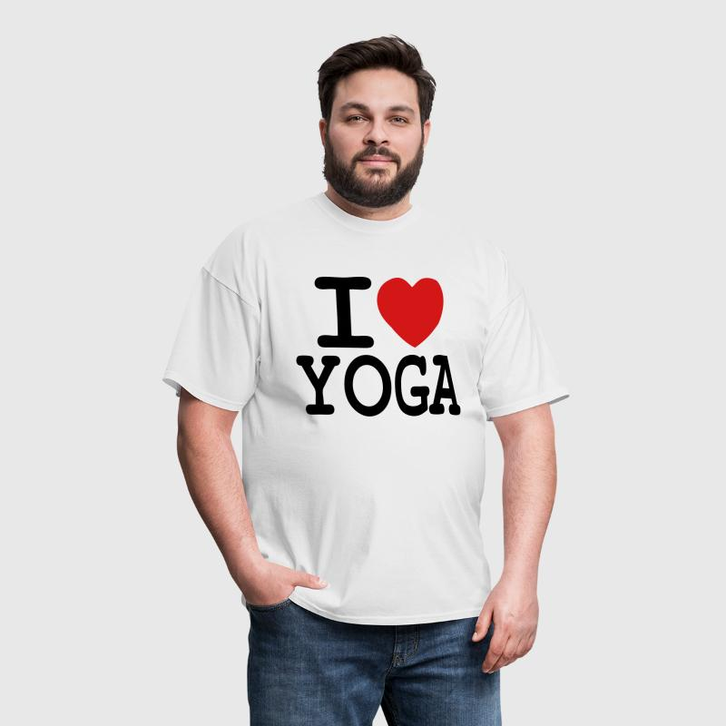 i love yoga - Men's T-Shirt