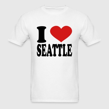 I Love seattle - Men's T-Shirt
