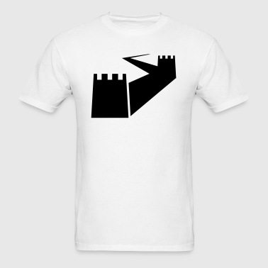 Great Wall of China Silhouette - Men's T-Shirt