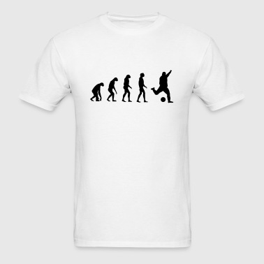 Evolved to play Soccer - Men's T-Shirt
