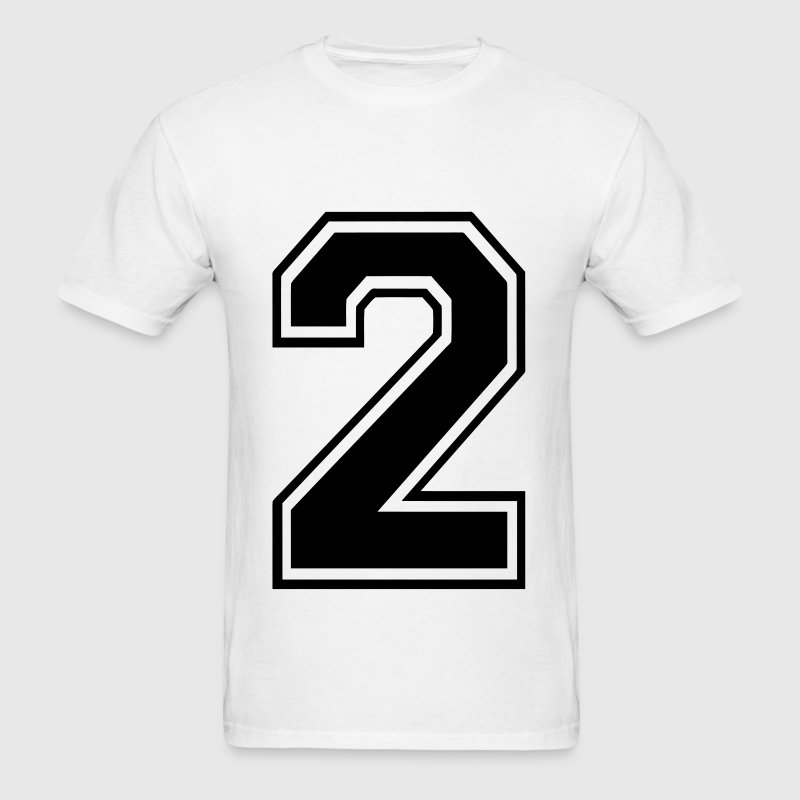 Number 2 - Men's T-Shirt
