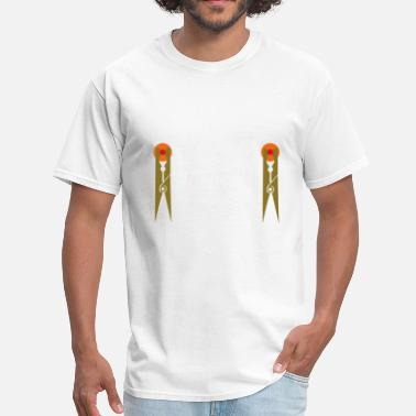 Nipples On Nipple Pins - Men's T-Shirt