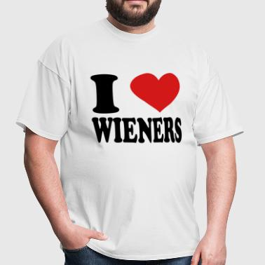 i love weiners - Men's T-Shirt
