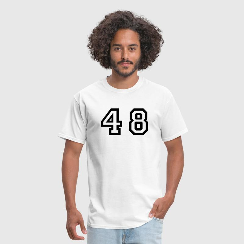Number - 48 - Forty Eight - Men's T-Shirt